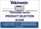 Tektronix TSG4100A RF Vector Signal Generator Range Selection Guide