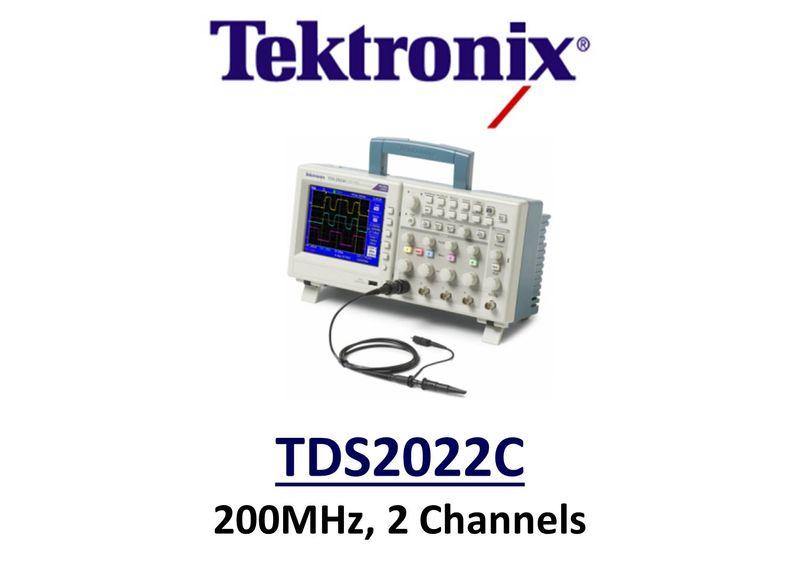 TDS2022C AFFORDABLE PERFORMANCE DIGITAL STORAGE OSCILLOSCOPE, 200MHZ, 2 CHANNELS