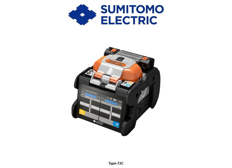 Sumitomo Type-72C high definition single fibre core-alignment fusion splicer Kit