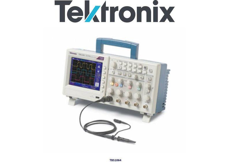 "TBS1064 Digital Storage Oscilloscope , 60MHz, 1GS/s, 4 Channels, 5.7"" WVGA Display"