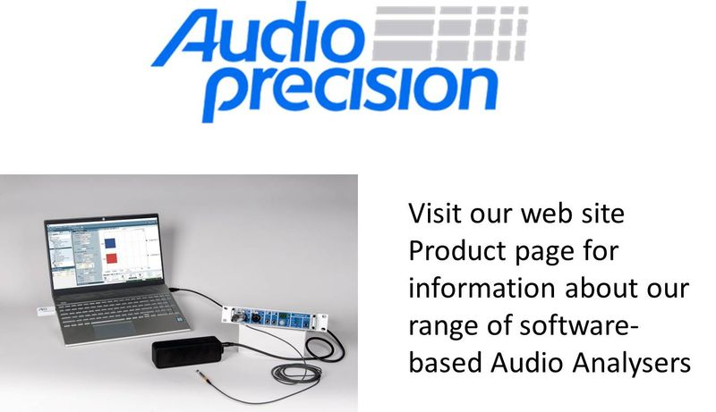 Audio Precision Software-based Audio Analyser product range
