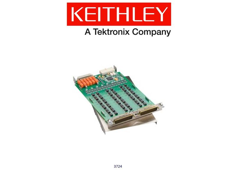 Keithley model 3724 Dual 1x30 FET Multiplexer Card,60 diff'l channels, auto CJC with 3724-ST