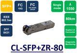 SFP+,SMF, 1550NM, 10G, 80KM