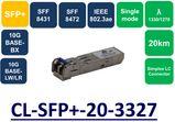SFP+, SMF, WDM, BIDI, 1330/1270NM ,DDM ,20KM