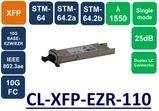 XFP,SMF, 1550NM, 10G, LC, 25DB
