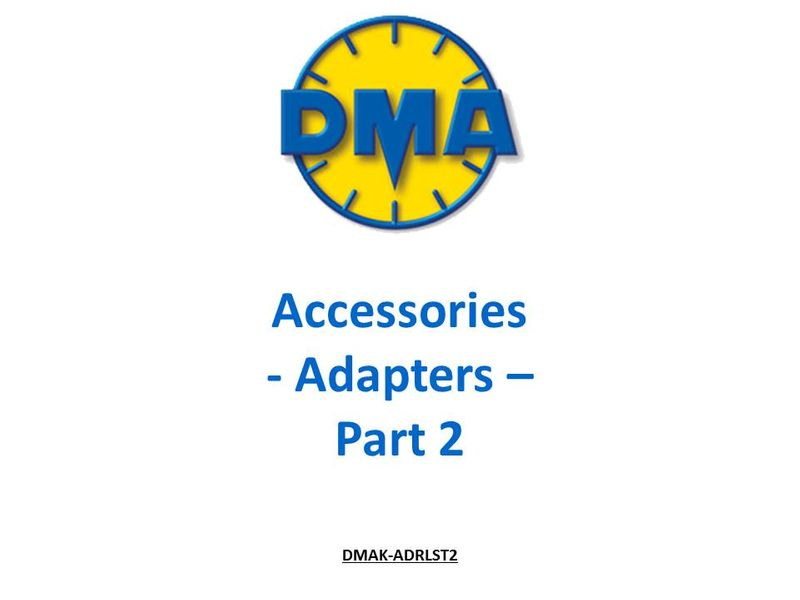 Pitot-static Adapters for DMA Air Data Test Sets (Part 2)