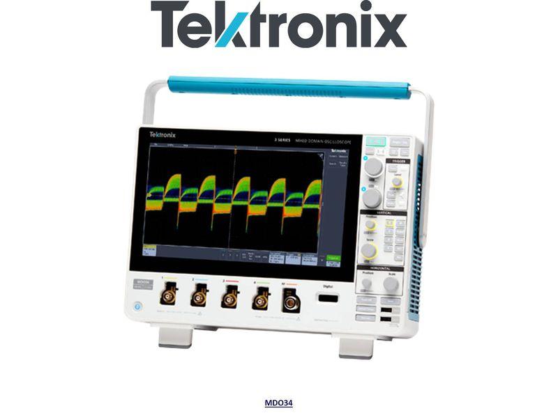 MDO34 3-BW-500 Mixed Domain Oscilloscope, 500MHz, 4 Analog & 16 Digital (optional) Channels