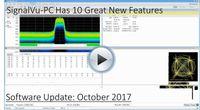 SignalVu-PC October 2017 Improvements