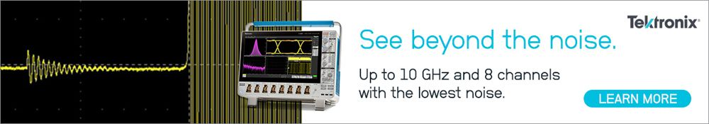 See beyond the noise. Up to 10 GHz and 8 channels with the lowest noise. Tektronix 6 Series B Mixed Signal Oscilloscope