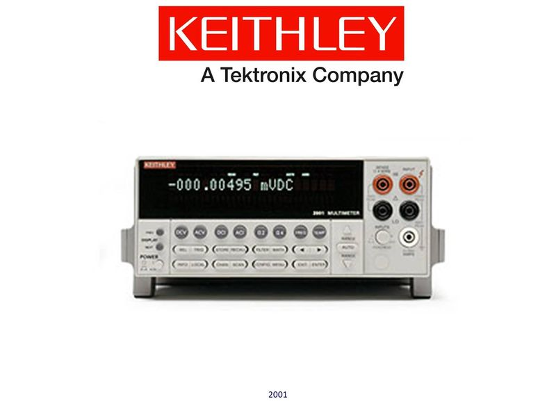 Keithley model 2001 High Performance 7.5-Digit DMM with 8K Memory