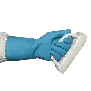 BLUE SILVERLINED SMALL RUBBER GLOVE