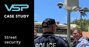 CCTV security solution for bustling street in noosa