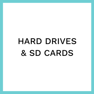 HARD DRIVES & SD CARDS