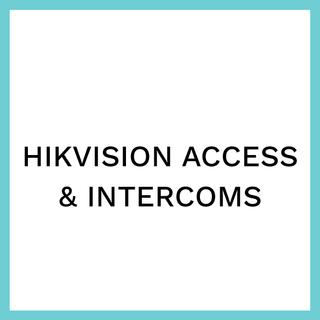 HIKVISION ACCESS & INTERCOMS