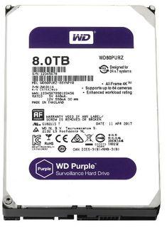 WESTERN DIGITAL WD80PURZ Purple 8TB HDD