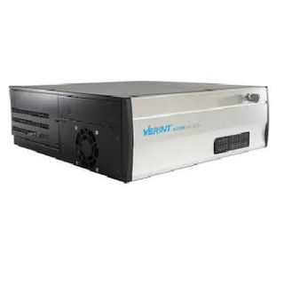 Verint EdgeVR 300 with 16 video ports and a S1816e-SR encoder for a total of 32 analog video channels.  This EdgeVR supports up to 64 IP/Analog channels. Configured with (4) 4TB removable HDD, for 8TB of RAID1 storage. Encoder power supply, Rack Mount