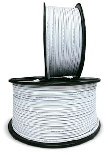 Cable, 2 Core, Fig. 8, 24/020, Black with White Stripe, 250Mtr Reel