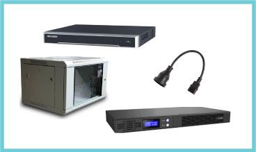 16CH NVR, 6RU 450 Deep Rack, ION-F15R-1600 UPS