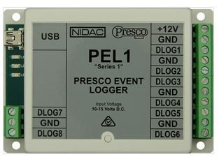 PRESCO Event Logger for PAC1/2, Up to 8 Controllers, 800 Users, 12VDC