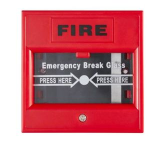 Emergency Break Glass 2 Pole Surface Mount (White)