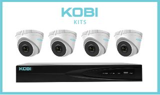 KOBI 4Channel NVR with 2tb, and 4x KOBI-4MT2 turret cameras
