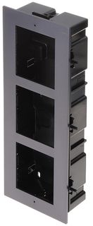 HIKVISION Intercom, GEN 2, Entry Panel Flush Mount Box, 3 Module (ACF3)