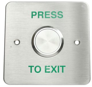 Stainless Steel Illuminated Exit Button With Flush Mount Large Plate