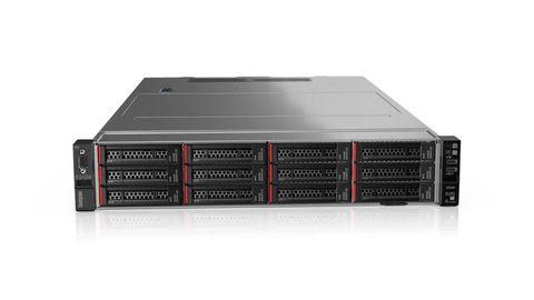 Lenovo 12x Hotswap Bay 2RU Rack Mount Server with Intel Xeon 8-Core Processor, 16GB RAM, 2x M.2 240GB SATA  (OS), 4x 300GB SAS (LDB), 8x 8TB NLSAS (ADB), RAID Support, Dual NIC, Windows Server 2019 Standard, 3Yr Next Business Day Warranty