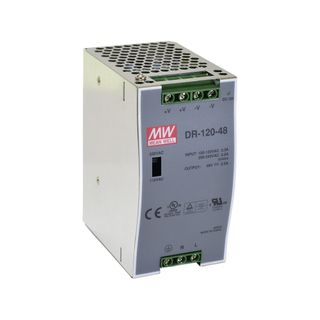 MEANWELL 48Vdc, 2.5A Single Output Industrial Din Rail Power Supply Unit (120W)
