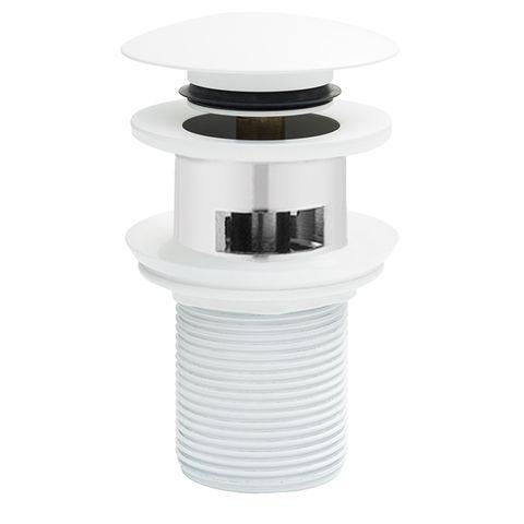 BASIN CLICKER WASTE 32MM C/W OVERFLOW WHITE